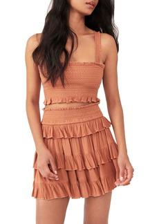 Women's Free People Thalia Smocked Crop Top & Tiered Miniskirt