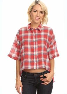 Freebird by Steven Freebird Junior's Oversized Drop Shoulder Plaid Button Up Shirt