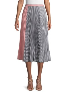 French Connection Accordion Pleat A-Line Skirt