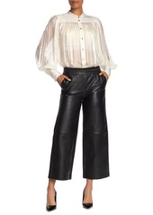 French Connection Alia Leather Wide Leg Pants