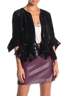 French Connection Alodia Sequin Cropped Jacket