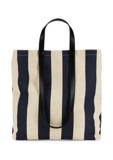 French Connection Amari Utility Striped Canvas Tote
