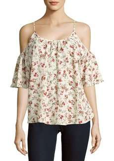 French Connection Anastasia Floral Cold-Shoulder Top