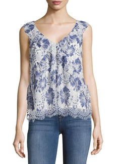 French Connection Antonia Lace Floral Top