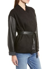 French Connection Arethusa Faux Leather Jacket