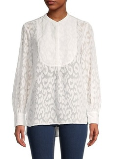 French Connection Asante Coupe Textured Top