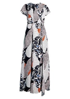 French Connection Asha Print Wrap Dress