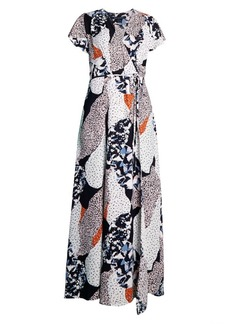 French Connection Asha Print Wrap Dress