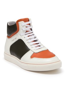 French Connection Bartelemy Colorblock Leather High Top Sneaker