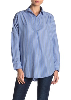 French Connection Bega Striped Poplin Shirt