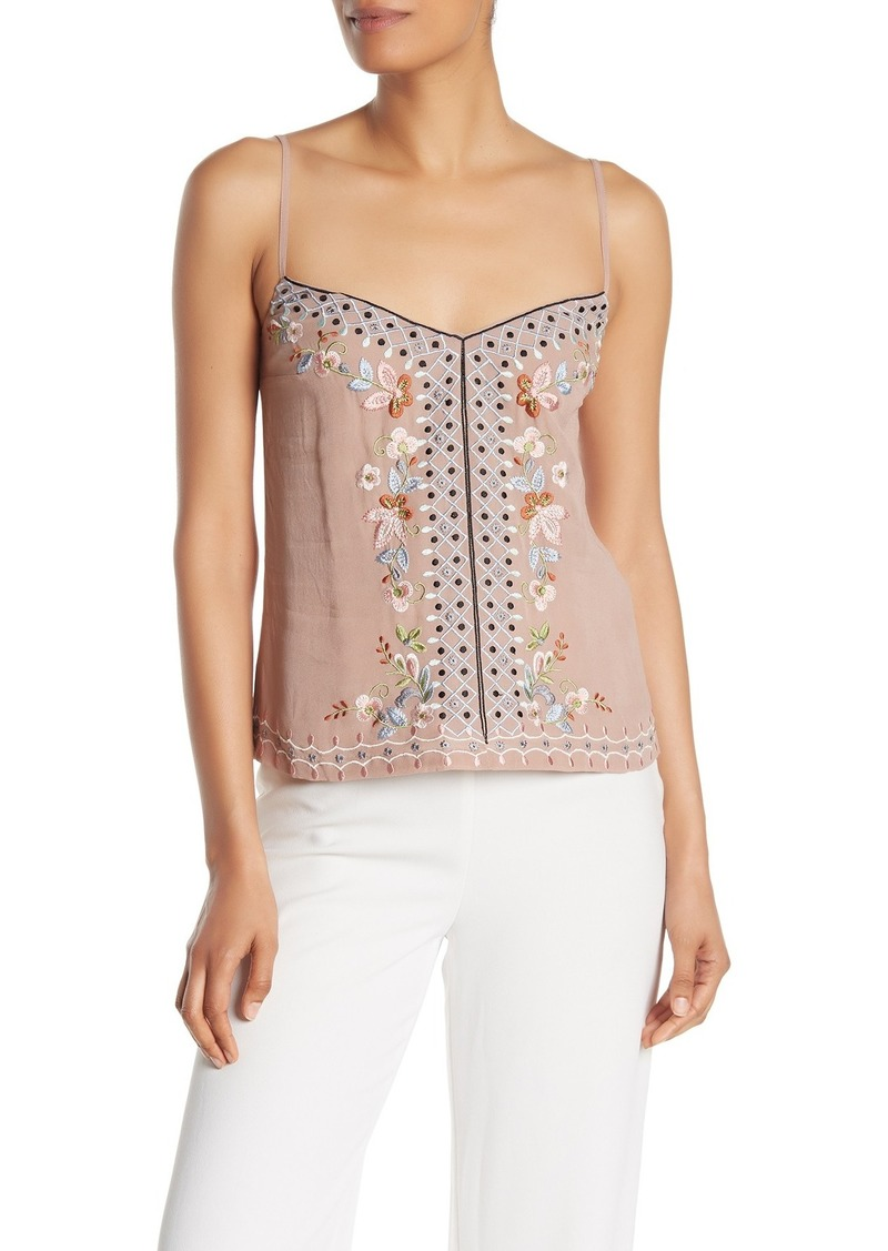 ac7bf707765 French Connection Bijou Embroidered Tank Top | Casual Shirts