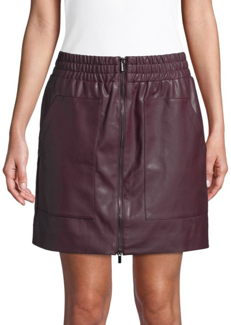 French Connection Birshen Faux-Leather Mini Skirt