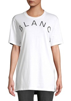 French Connection Blanc Et Noir Cotton Tee