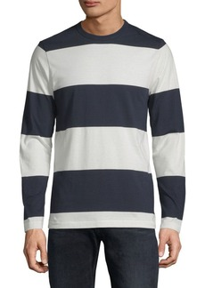 French Connection Block Striped Long-Sleeve Cotton Tee