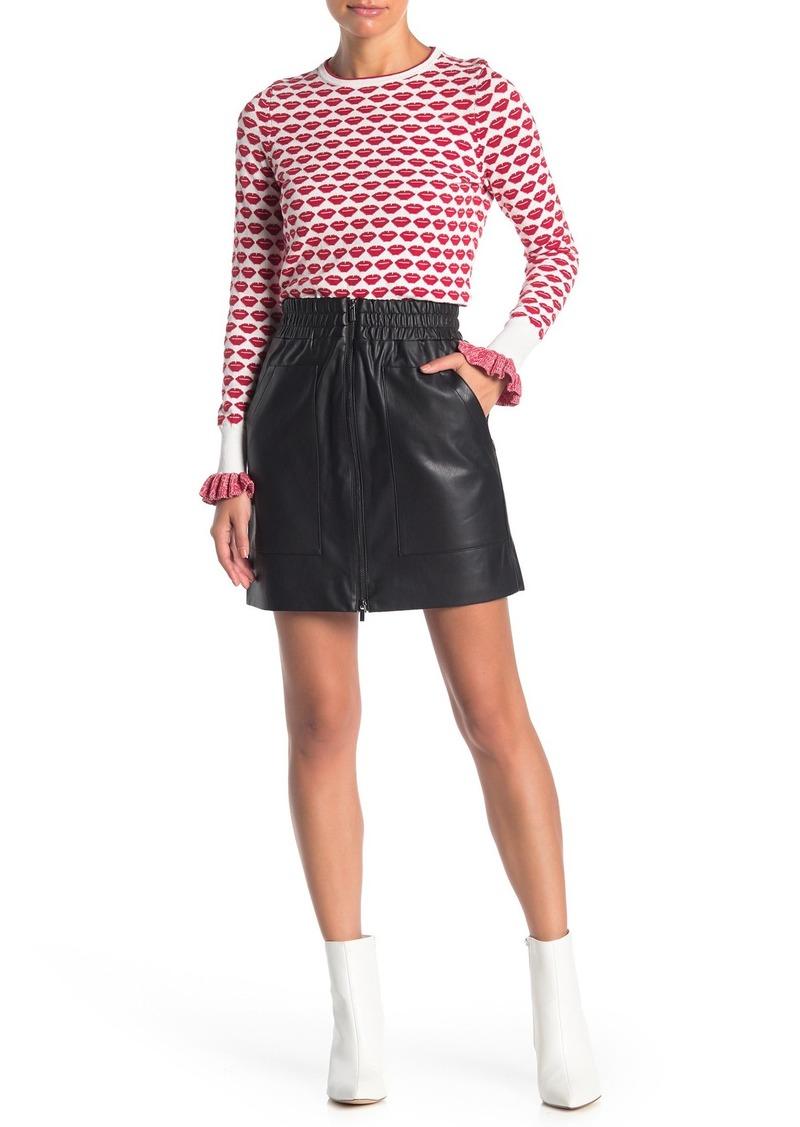 French Connection Brishen Zip Front Mini Skirt