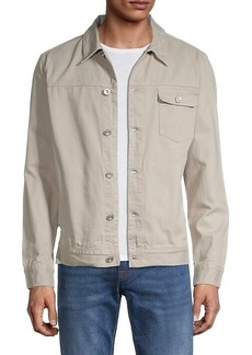 French Connection Button-Front Cotton Jacket