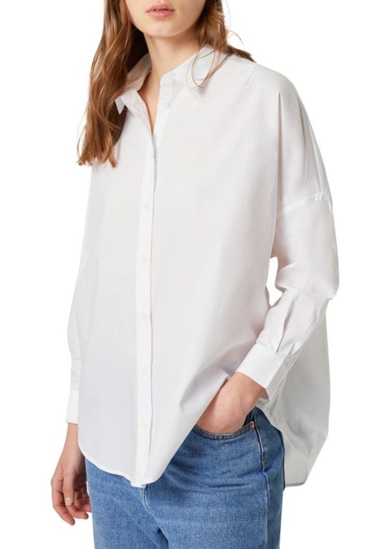 French Connection Button-Front Long-Sleeve Shirt