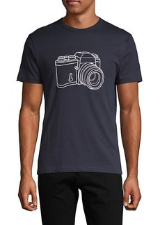 French Connection Camera Graphic Cotton Tee
