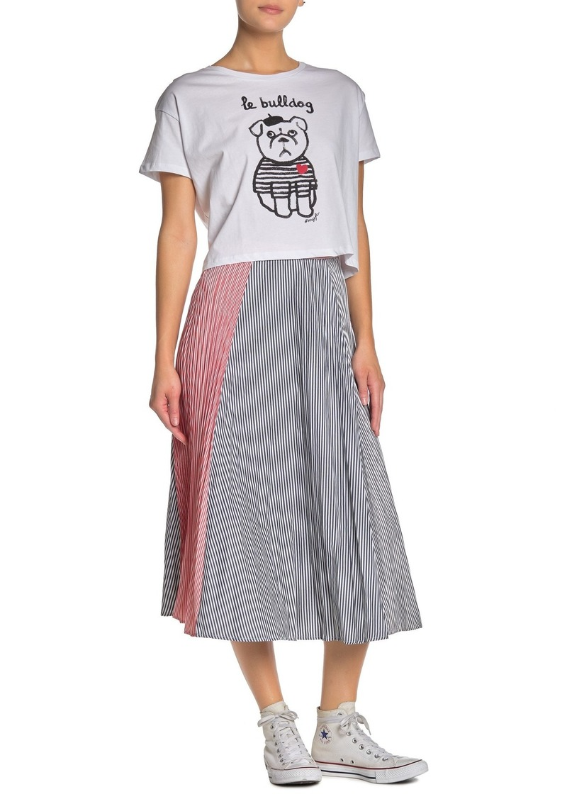 French Connection Carolie Striped Midi Skirt