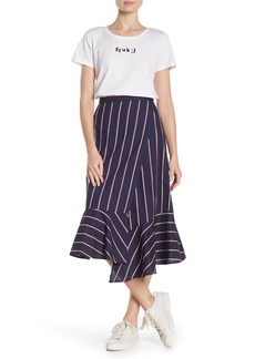 French Connection Celoa Stripe Wrap Skirt