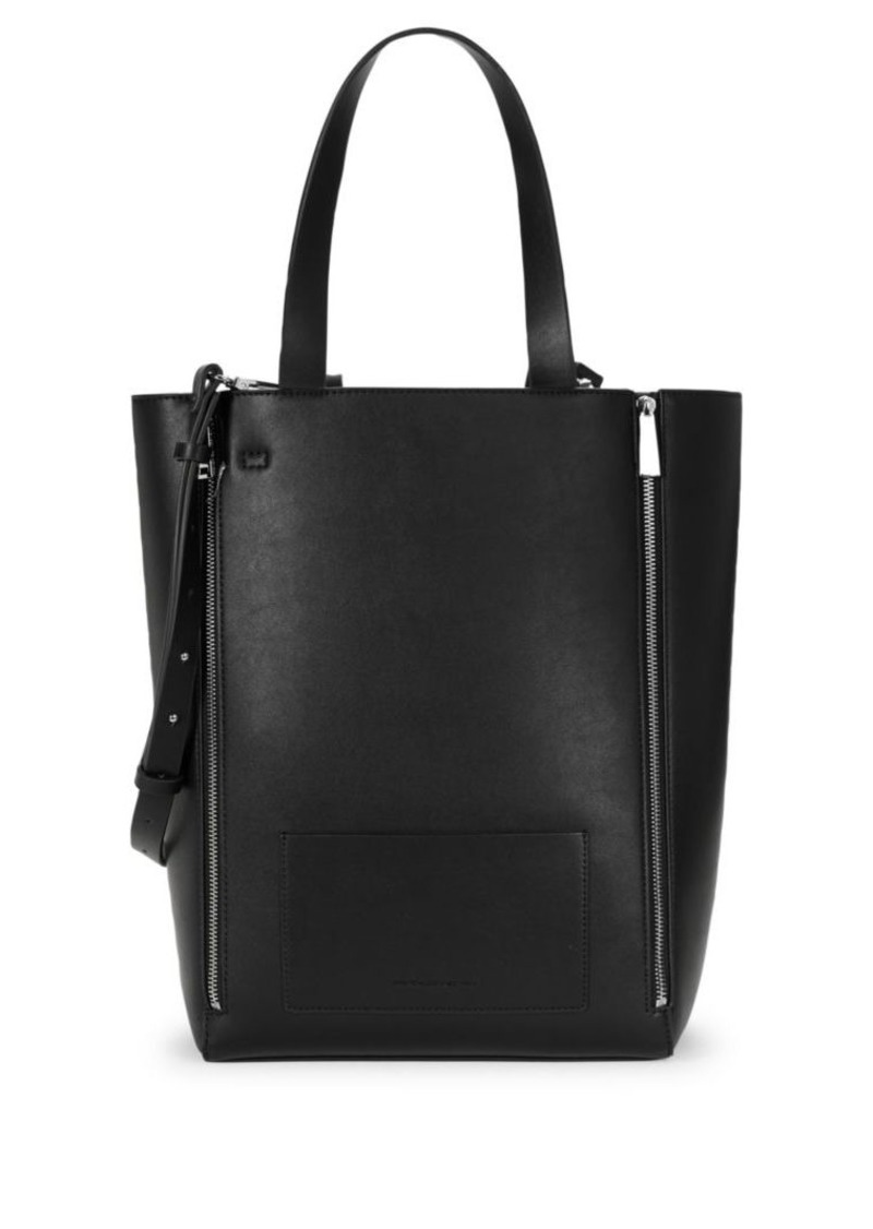 French Connection Bijou Zippered Faux-Leather Tote