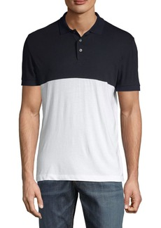 French Connection Colorblock Short-Sleeve Cotton Polo