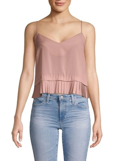 French Connection Crepe Frill Tank Top