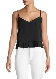 French Connection Crepe Pleated Tank