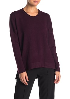 French Connection Crew Neck Hi-Lo Pleat Back Sweater