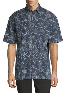 French Connection Delon Hawaiian Cotton Button-Down Shirt