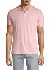 French Connection Dot-Print Cotton Polo