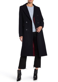 French Connection Double Breasted Wool Blend Topper Coat