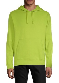 French Connection Drawstring Cotton-Blend Hoodie
