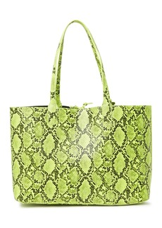 French Connection Easton Neon Snakeskin Embossed Tote