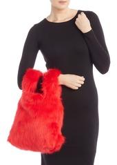 French Connection Elle Faux Fur Wrist Shopper Bag