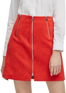 French Connection Ellef Suedette Mini Skirt
