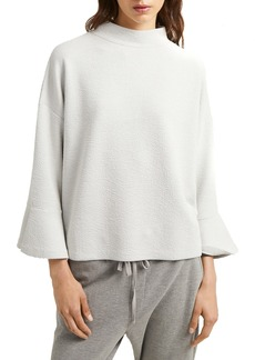 French Connection Ellen Textured Mock Neck Blouse