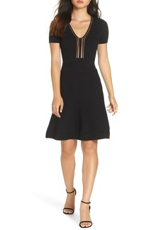 French Connection Ellie Knits V-Neck Fit & Flare Dress