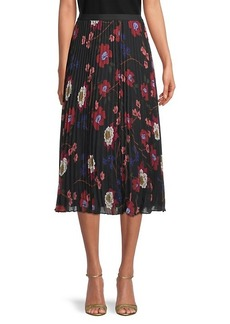 French Connection Eloise Pleated Floral Skirt
