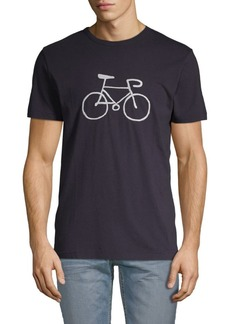 French Connection Embroidered Bike Cotton Tee