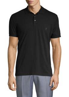 French Connection Embroidered Cotton Polo