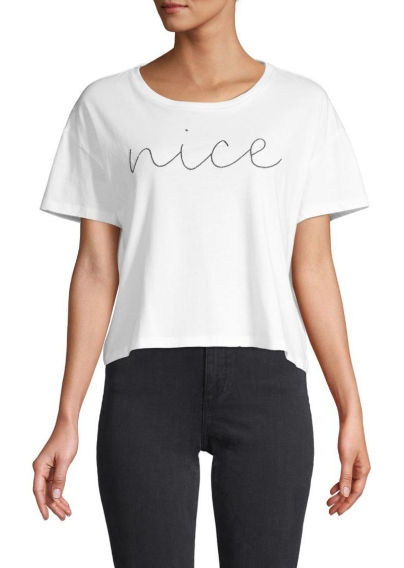 French Connection Embroidered Cotton Top