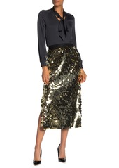 French Connection Emilia Sequined Jersey Skirt