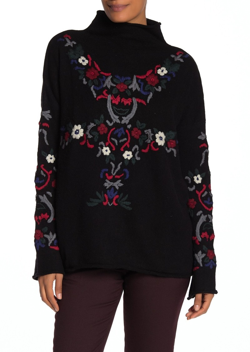 French Connection Emily Embroidered Knit Sweater