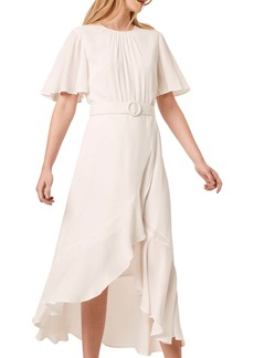 Women's French Connection Emina Belted High/low Midi Dress