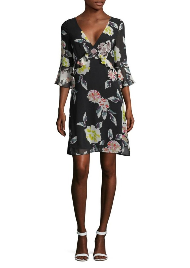 French Connection Enoshima Floral Ruffle Dress