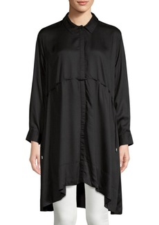 French Connection Eso Sunny Hi-Lo Button-Down Shirtdress
