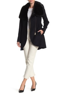 French Connection Faux Fur Collar Jacket