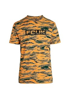 French Connection FCUK Camouflage Logo T-Shirt