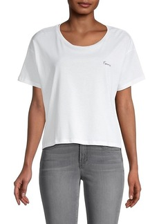 French Connection Femme Cotton Cropped T-Shirt
